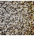 golden abstract retro vintage pixel mosaic vector image