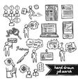Job interview sketch set vector image