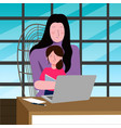 a a mother working on a vector image vector image