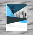 abstract geometric blue brochure flyer design vector image vector image