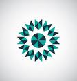 abstract geometrical symbol logo vector image