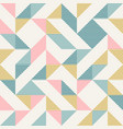 abstract geometry in retro colors diamond shapes vector image