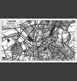 ankara turkey city map in black and white color vector image
