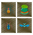 assembly flat shading style icon spider potion vector image vector image