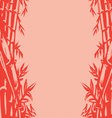 background sketch oriental bamboo vector image