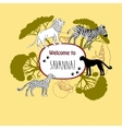 Background with savanna animals-03 vector image