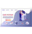 banner for car repair shop and diagnostic service vector image