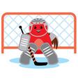 Bird is a hockey goalkeeper vector image vector image