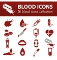 blood icons vector image vector image