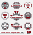 Boxing World Champion Labels vector image vector image