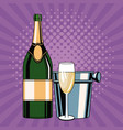 champagne toast pop art vector image vector image