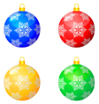christmas pattern balls vector image vector image