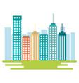 city buildings design vector image