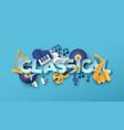 classic orchestra music papercut icon design vector image vector image