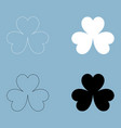 clover the black and white color icon vector image vector image