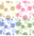 Color flower background vector image