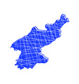 colored north korea map vector image vector image
