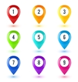 Colorful map point symbols set vector image