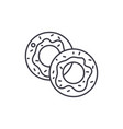 donuts line icon concept donuts linear vector image