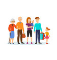 family with children in shopping center vector image vector image