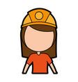 female miner avatar character vector image vector image