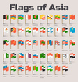 flags asia vector image