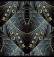 geometric meander greek 3d seamless pattern vector image vector image