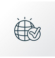 global solution icon line symbol premium quality vector image vector image
