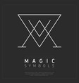 graphic magic symbol in white lines vector image vector image