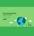 green earth day social web landing page template vector image vector image
