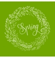 Hand drawn spring wreath vector image vector image