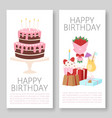 happy birthday banners set vector image vector image