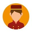 hotel worker design vector image