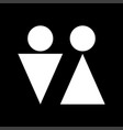 man and woman white color icon vector image