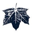maple leaf print inkprinted leaves of the vector image