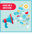 Marketing and Advertising - Loudspeaker Concept vector image