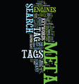 meta tag you re it how to use meta tags vector image vector image