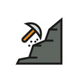 mining icon on white background vector image vector image