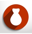 money bag web flat icon vector image