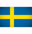 National flag of Sweden vector image vector image