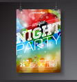 night party flyer design vector image vector image