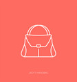 outline icon woman accessories - lady vector image vector image