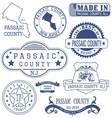 Passaic county New Jersey stamps and seals vector image vector image