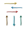 Plasticine arrows on white background vector image vector image