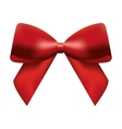 ribbon bown christmas isolated icon vector image