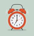 ringing alarm clock flat vector image