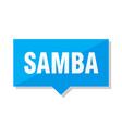 samba price tag vector image vector image