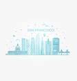 san francisco city skyline background vector image vector image