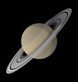 saturn with soft shadows smooth gradient colors vector image