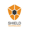 shield technology logo vector image vector image